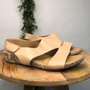 Naturalizer leather faux snake skin sandal